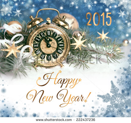 happy-new-year-old-alarm-clock-set-to-five-to-twelve-decorated-for-new ...
