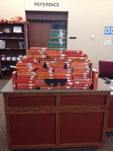 halloween library pumpkin